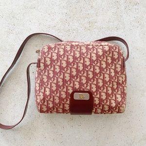 🍒 VINTAGE DIOR Monogram Trotter Logo Bag Red